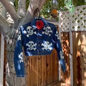 Vintage customized skull jacket. 💀